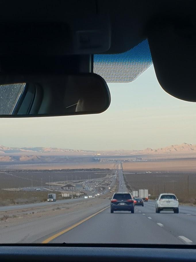 Billede af vejen mellem Los angeles og las vegas