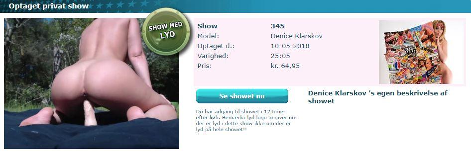 Denice Klarskov Show 345