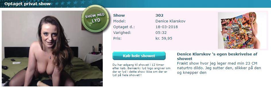 Denice Klarskov i frækt show