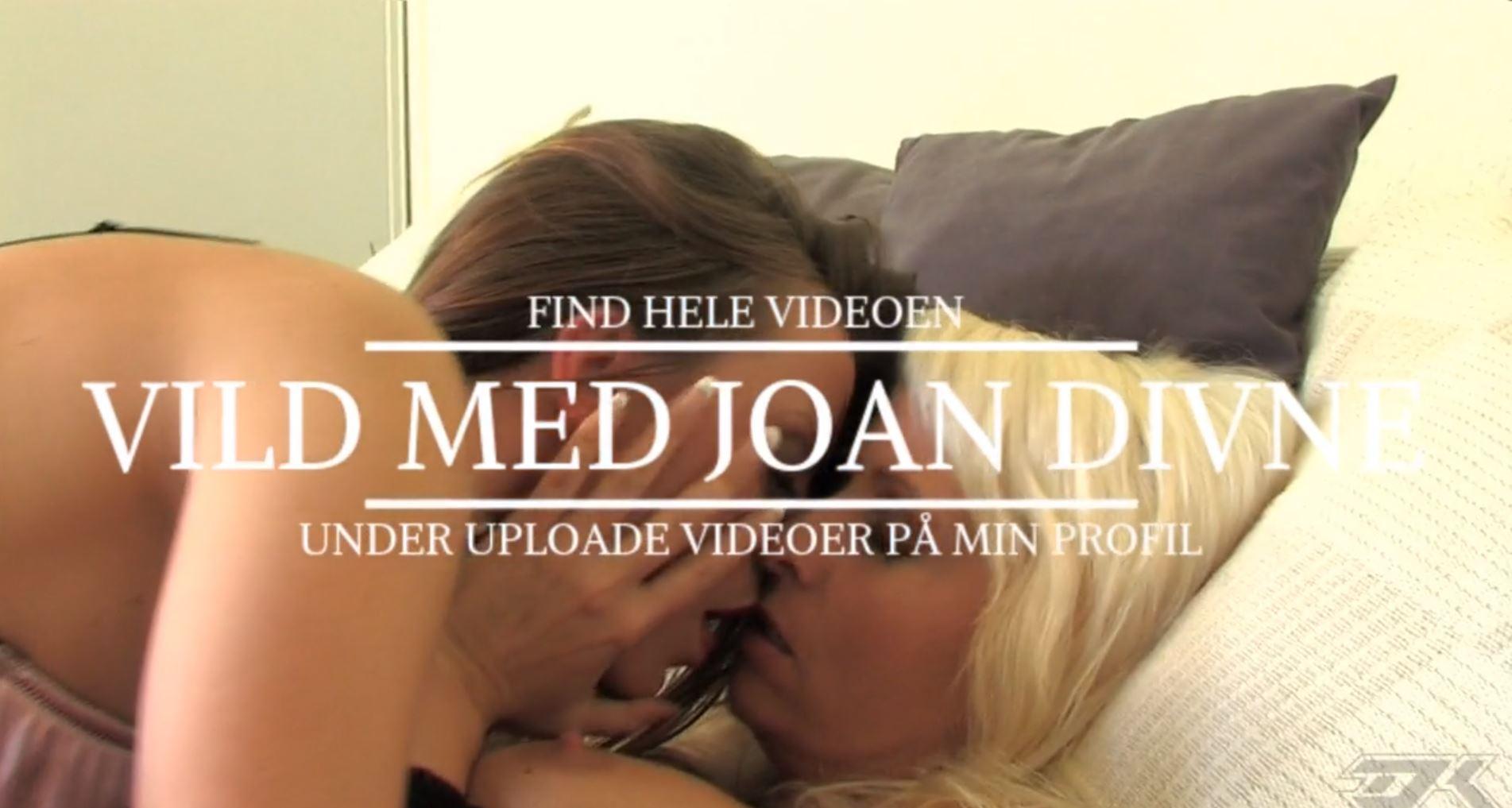Joan og denice k kysser, intro billede til pornofilm